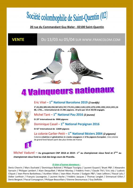 Affiche 2020 Vente de Saint-Quentin 2