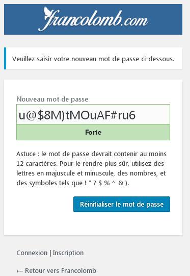 fr inscription saisie mot de passe