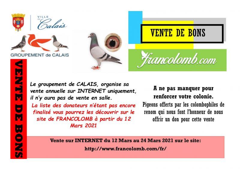 Affiche vente Groupement de CALAIS 2021