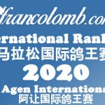 Francolomb International Ranking 2020 – Ace Pigeon Agen