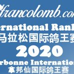 Francolomb International Ranking 2020 – As Pigeons Narbonne