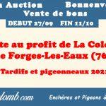 """Vente : """" La Colombe """" de Forges-Les-Eaux (76)"""